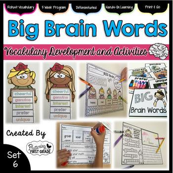 Vocabulary Activities: Big Brain Words Set 6