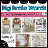 Vocabulary Activities: Big Brain Words Set 6