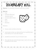 Vocabulary Word Work {Center & Activities} PACK for 3rd-8th Grade