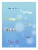 Vocabulary:  Word Work Unit