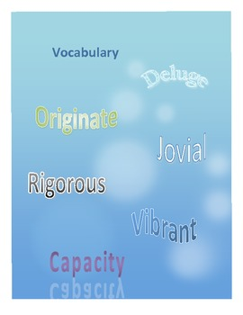 Vocabulary:  Word Work Unit