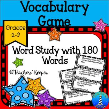 Vocabulary Word Work, Vocabulary Tip-Off