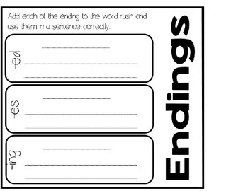 Vocabulary Word Work and Journal