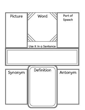Vocabulary Word Worksheet