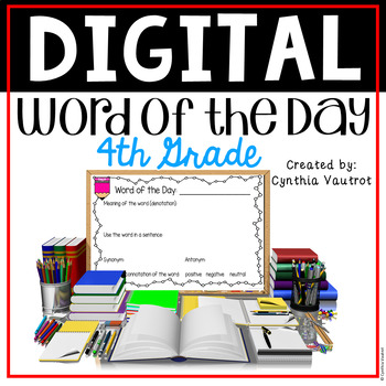 Vocabulary Word of the Day - 4th Grade