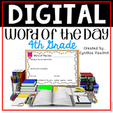 Digital Classroom Vocabulary Word of the Day for 4th Grade