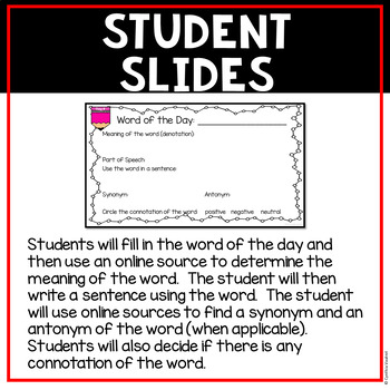 Vocabulary Word of the Day - 5th Grade