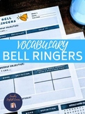 Vocabulary Word of the Day Bell Ringers