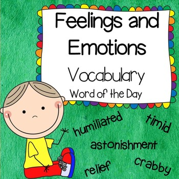 Vocabulary Words- Feelings and Emotions