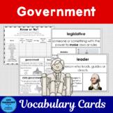 Government Vocabulary Cards