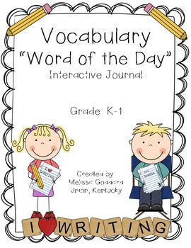 Vocabulary : Word of the Day : K-1 : Interactive Journal