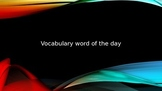 Vocabulary Word of the Day PowerPoint