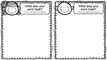 Vocabulary Word of the Week Mini Book