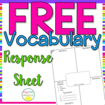Vocabulary Word of the Week Response Sheet