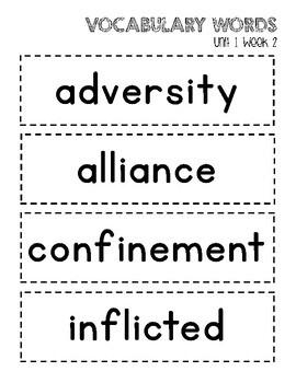 Vocabulary Words 6th Grade WONDERS