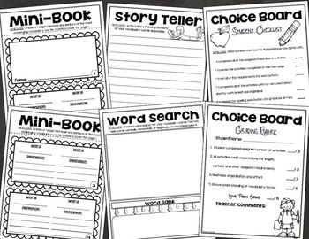 Vocabulary Word Choice Board Tic Tac Toe Activities For Any Subject Area