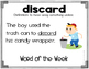Vocabulary Words For K, 1, and 2 (Word of the Week Activities)