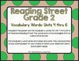 EDITABLE Vocabulary Words- Reading Street- 2nd Grade- Blac
