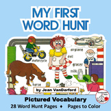 Pictured Vocabulary Word Hunt   Color  VOCABULARY   Review Sight Words   Gr.1-2