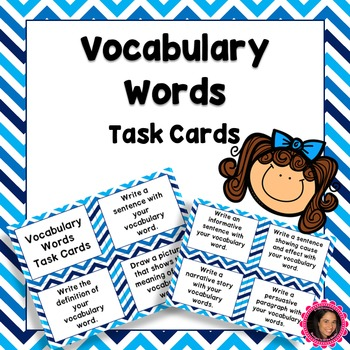 Vocabulary Words Task Cards