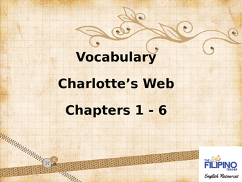 Vocabulary Words from Charlotte's Web Chapters 1-6