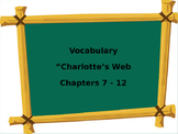 Vocabulary Words from Charlotte's Web Chapters 7-12