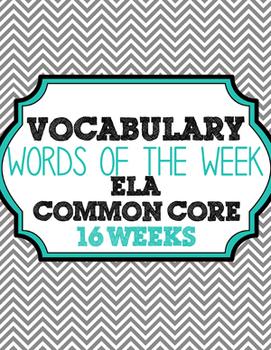Vocabulary Words of the Week Bundle - 16 Weeks