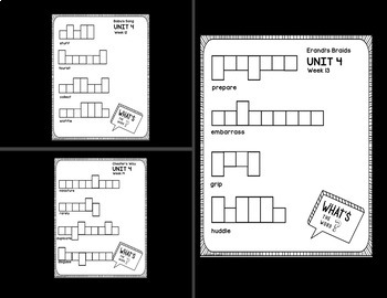 Vocabulary Words that Support Making Meaning - Unit 4 - Second Grade