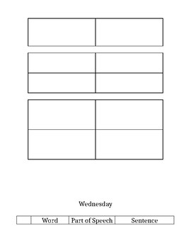 Vocabulary Work for 3rd~5th