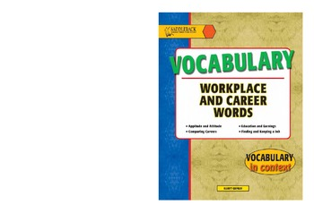 Vocabulary Workplace and Careers