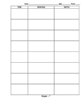 Vocabulary Worksheet