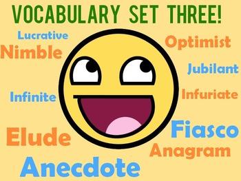Vocabulary Worksheet Bundle: Week 22-34