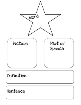 Vocabulary Worksheet Four Part