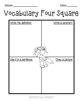 Vocabulary Worksheet Set