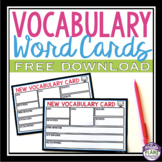 FREE VOCABULARY GRAPHIC ORGANIZER