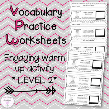 Vocabulary Worksheets - Level 2, Grades 2-3