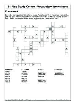 Vocabulary Worksheets - Word Frameworks