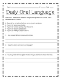 Vocabulary Workshop Grade 4 Daily Oral Language