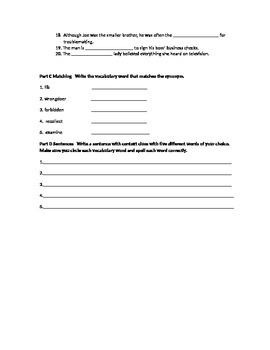 Vocabulary Workshop Test Level A Unit 7