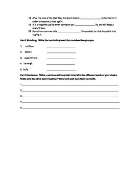 Vocabulary Workshop Test Level A Unit 9