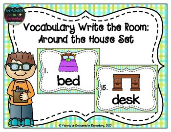 Vocabulary Write the Room: Around the House Set
