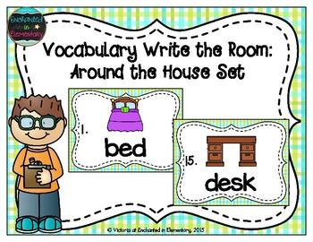 Vocabulary Write the Room: Around the House Set