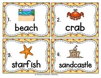 Vocabulary Write the Room: Beach Set