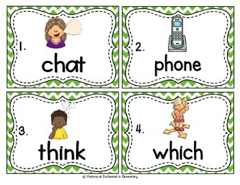 Vocabulary Write the Room: Beginning Digraphs Set
