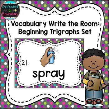 Vocabulary Write the Room: Beginning Trigraphs Set