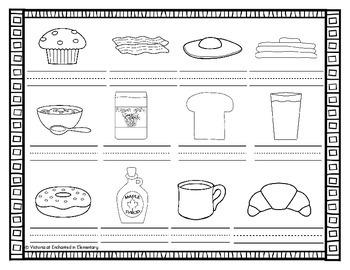 Vocabulary Write the Room: Breakfast Food Set