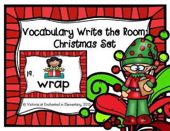 Vocabulary Write the Room: Christmas Set
