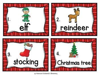 Vocabulary Write the Room: Christmas Set