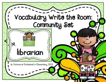 Vocabulary Write the Room: Community Set