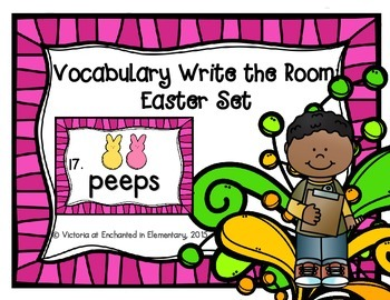 Vocabulary Write the Room: Easter Set